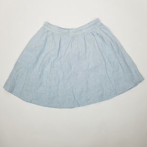 Joie SZ M light blue linen skater circle skirt